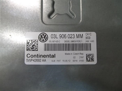 Resim 03L906023MM 03L907425C 5WP42692AA PCR2.1 VW GOLF 1.6 CAYC MOTOR BEYNİ
